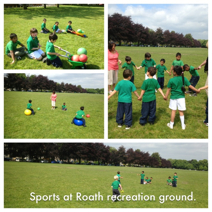 Roath recreation ground and infant sports fun!
